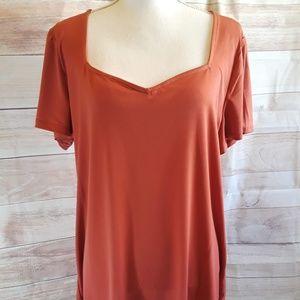 Torrid Dark Orange Sweetheart Blouse - Size 2 NWT
